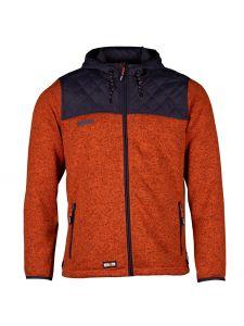 Bores Fleece Jack Oranje/Donker grijs - Herock