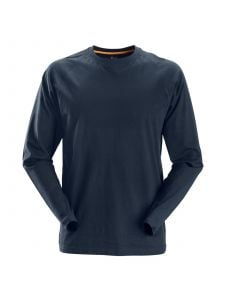 Snickers 2410 AllroundWork, T-Shirt l/m - Navy