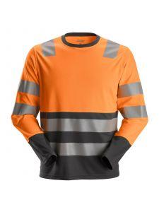 Snickers 2433 AllroundWork, High-Vis T-Shirt l/m Klasse 2 - High Vis Orange