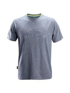 Snickers 2580 Logo T-shirt - Dark Blue Melange