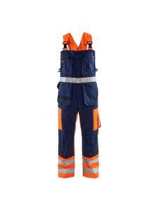 Bib Overalls High Vis 2603 High Vis Oranje/Marineblauw - Blåkläder