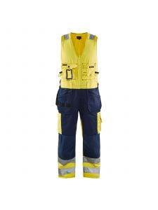 High Vis Sleeveless Overall 2653 High Vis Geel/Marine - Blåkläder