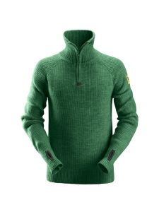 Snickers 2905 ½-Zip Wollen Sweater - Forest Green