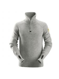 Snickers 2905 ½-Zip Wollen Sweater - Grey