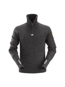 Snickers 2905 ½-Zip Wollen Sweater - Anthracite Melange
