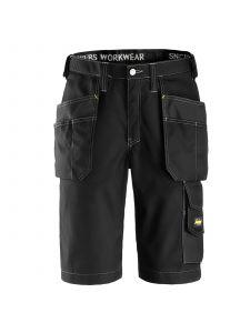 Snickers 3023 Craftsmen Shorts met Holsterzakken Rip-Stop - Black