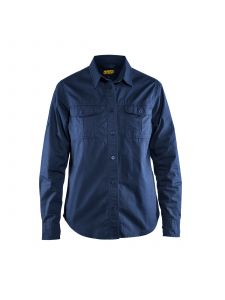 Ladies Twill Shirt 3208 Marineblauw - Blåkläder