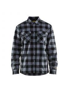 Lined Flannel Shirt 3225 Donkergrijs/Zwart - Blåkläder