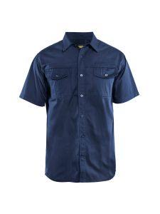 Blåkläder 3296-1190 Shirt Twill s/s - Navy