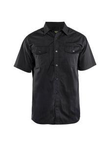 Blåkläder 3296-1190 Shirt Twill s/s - Black