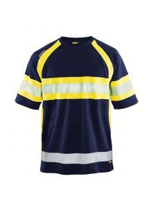 UV Polo Shirt High Vis 3337 Marine/High Vis Geel - Blåkläder