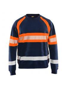 Blåkläder 3359-1158 Sweater High Vis - Marineblauw