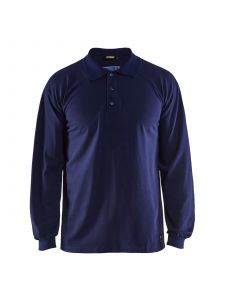 Flame Retardant Pique Long Sleeves 3374 Marineblauw - Blåkläder