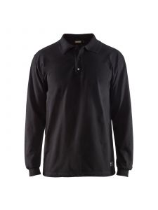 Flame Retardant Pique Long Sleeves 3374 Zwart - Blåkläder