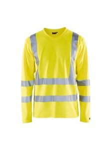 UV T-Shirt High Vis Long Sleeve 3381 High Vis Geel - Blåkläder