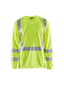UV T-Shirt High Vis Long Sleeve 3383 High Vis Geel - Blåkläder