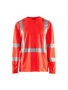 UV T-Shirt High Vis Long Sleeve 3383 High Vis Rood - Blåkläder
