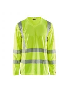 UV T-Shirt High Vis Long Sleeve 3385 High Vis Geel - Blåkläder