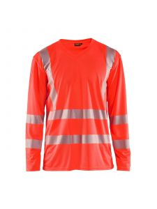 UV T-Shirt High Vis Long Sleeve 3385 High Vis Rood - Blåkläder