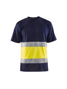 High Vis T-shirt 3387 Marine/High Vis Geel - Blåkläder