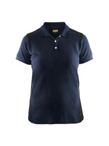Blåkläder 3390-1050 Women's Pique Polo Shirt - Dark Navy/Black