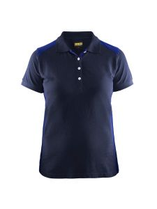 Blåkläder 3390-1050 Women's Pique Polo Shirt - Navy/Cornflower Blue