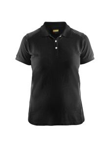 Blåkläder 3390-1050 Women's Pique Polo Shirt - Black/Dark Grey
