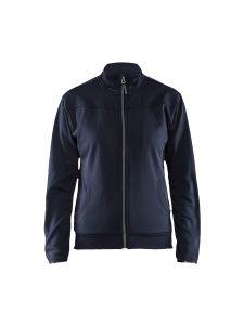 Ladies Sweatshirt With Full Zip 3394 Donker Marineblauw/Zwart - Blåkläder