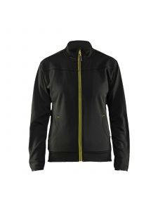 Ladies Sweatshirt With Full Zip 3394 Zwart/High Vis Geel - Blåkläder
