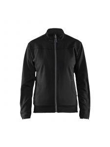 Ladies Sweatshirt With Full Zip 3394 Zwart/Donkergrijs - Blåkläder