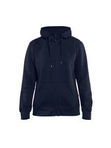 Ladies Hoodie With Full Zipper 3395 Marineblauw - Blåkläder
