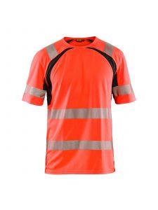UV T-shirt High Vis 3397 High Vis Rood/Zwart - Blåkläder