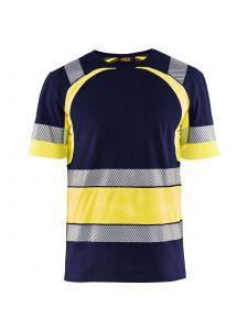 High Vis T-shirt 3421 Marine/High Vis Geel - Blåkläder