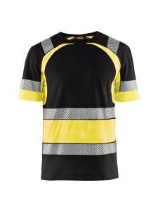 High Vis T-shirt 3421 Zwart/High Vis Geel - Blåkläder