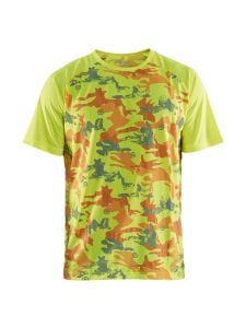 Blåkläder 3425-1011 Functional UV-Protected T-shirt Camo - High Vis Yellow