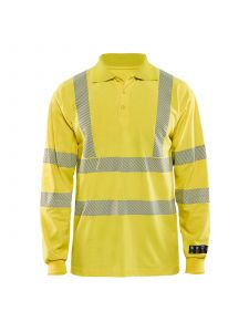Multinorm Pique Long Sleeves 3439 High Vis Geel - Blåkläder