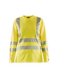 Ladies High Vis T-shirt Long Sleeve 3485 High Vis Geel - Blåkläder