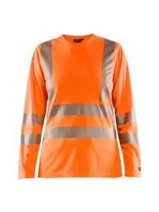 Ladies High Vis T-shirt Long Sleeve 3485 High Vis Oranje - Blåkläder