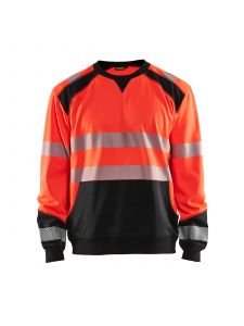 High Vis Sweatshirt 3541 High Vis Rood/Zwart - Blåkläder