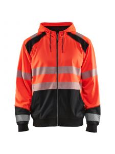 Blåkläder 3546-2528 Hooded sweatshirt - High Vis Rood