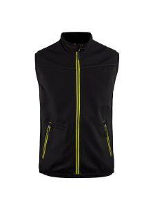 Blåkläder 3850-2516 Softshell Gilet - Black / Vis Yellow