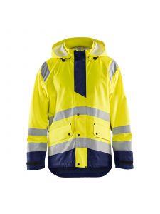 Rain Jacket Level 1 4323 High Vis Geel/Marineblauw - Blåkläder