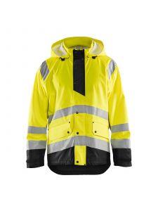 Rain Jacket Level 1 4323 High Vis Geel/Zwart - Blåkläder
