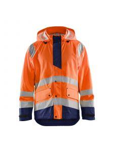 Rain Jacket Level 1 4323 High Vis Oranje/Marineblauw - Blåkläder