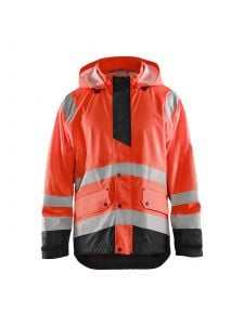 Rain Jacket Level 1 4323 High Vis Rood/Zwart - Blåkläder