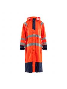 Rain Coat High Vis Level 1 4325 High Vis Oranje/Marine - Blåkläder