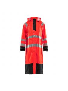 Rain Coat High Vis Level 1 4325 High Vis Rood/Zwart - Blåkläder