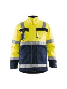 Multinorm Winterparka 4468 High Vis Geel/Marineblauw - Blåkläder
