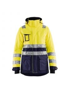 Ladies High Vis Winter Parka 4472 High Vis Geel/Marineblauw - Blåkläder