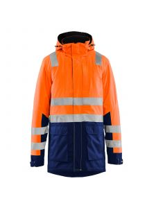 High Vis Parka 4495 High Vis Oranje/Marineblauw - Blåkläder
